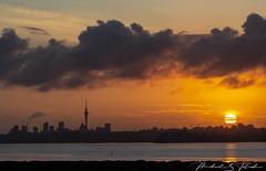 Auckland Sunrise (steamfan1211) Tags: sunrise auckland newzealand weather clouds
