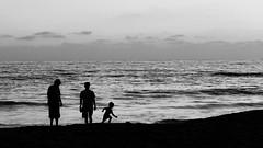 Seaside Silhouettes (ANiceCupofTea) Tags: ocean oceanside california fatherson seaside silhouette blackwhite