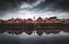 Le front de mer Norvégien (jonathan le borgne) Tags: house woodhouse church sky dramatic norvegian norway reine lofoten reflection clouds