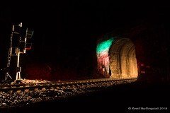 Southbound at Cruzatte (Reed Skyllingstad) Tags: cpvp546 cascademountains cascadesubdivision cruzatte green highball mountains night oregon outdoors outside railroad railway red signal timeexposure tracks train tunnel tunnel6 up unionpacific unitedstatesofamerica
