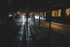 Tramway (No_Mosquito) Tags: city night urban dark shadows light cars vienna street people tramway canon powershot g7xmarkii lights
