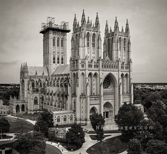 Washington National Cathedral (NRKimages) Tags: architecture gothic exterior bw washingtonnationalcathedral bnw