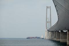 Under The Bridge (Thomsen07) Tags: storebælt bro storebæltsbroen thegreatbeltbridge greatbeltbridge ship shipping sony sonyrx sonyrx100 sonyrx100m6 rx100 rx100m6 denmark korsør korsoer korsor sea