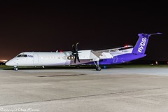 flybe G-JECP HAJ at Night (U. Heinze) Tags: aircraft airlines airways airplane planespotting plane flugzeug nikon night nightshot haj hannoverlangenhagenairporthaj eddv