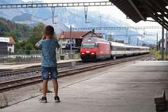 Tijs, Mels, 14 augustus 2018 (Bart Donker) Tags: mels bahnhof station tijs ic intercity basel chur re460 sbb