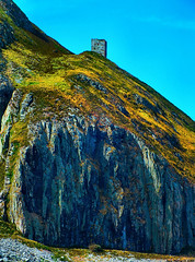 Scotland West Coast a ruined towerhouse that was built by Clan Hamilton in the 1540's on the island of Ailsa Craig 1 July 2018 by Anne MacKay (Anne MacKay images of interest & wonder) Tags: scotland west coast cliff ruined towerhouse built clan hamilton 1540 island ailsa craig 1 july 2018 picture by anne mackay
