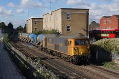73136 Tooting (Gridboy56) Tags: class73 ed 73136 73201 3w90 rhtt locomotive locomotives uk london trains train railways railroad railfreight wagons tooting gbrf