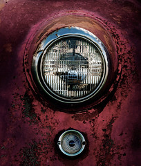 (Bill Baldridge) Tags: red chrome chevy texture