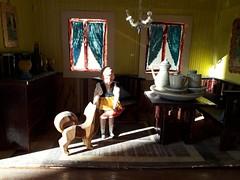 Sunny afternoon (shero6820) Tags: old antique vintage doll toys sievershahn lottesievershahn dog cardboard card wooden caho lüftlmalerei homemade erzgebirge treen teaset