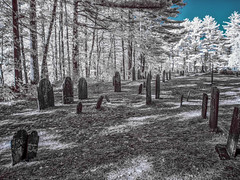 Vale End Cemetery (John M Poltrack) Tags: 590nmfilter cemetery infrared photography places valeendcemetery graveyard lightroom