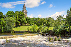 Pawtucket, Rhode Island (Chancy Rendezvous) Tags: chancyrendezvous davelawler blurgasm pawtucket rhodeisland slater mill river water green grass trees park landscape lawler