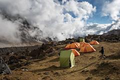 Bivouac above the clouds in Narethang - Gasa District - Snowman Trek - Bhutan (PascalBo) Tags: nikon d500 asie asia southasia asiedusud drukyul drukgyalkhap bhutan bhoutan འབྲུག་ཡུལ། འབྲུག་རྒྱལ་ཁབ་ snowman trek trekking hike hiking lunana gasa himalaya himalayas jigmedorjinationalpark montagne mountain clouds nuages tent bivouac camp campement expedition outdoor outdoors pascalboegli sky ciel