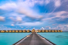 Walking clouds (icemanphotos) Tags: luxury overwater villa resort holiday clouds long exposure