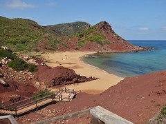 Cala Pilar (m_artijn) Tags: cala pilar menorca es sand hill rock sun blue clear sky sea