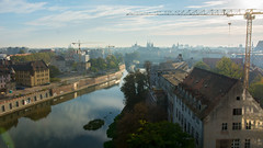 Oder River (PiotrTrojanowski) Tags: odra oder wrocław breslau poland view architecture city river crane sky water bank morning