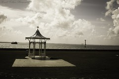 Waiting For The Summer To Return (russellcollisonphotography) Tags: originalphotography landscape seascape southsea portsmouth hampshire sea seaside coast clouds bandstand quote