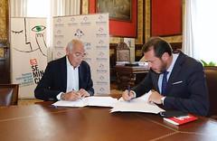 #63Seminci - Firma del convenio de colaboración con Recoletas (04/10/2018) (SEMINCI) Tags: seminci valladolid cine