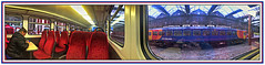 Inside looking out looking in (david.hayes77) Tags: emt eastmidlandstrains 1k07 1k08 class153 stokeontrent staffs staffordshire 2018 panorama pano iphone apple iphone5s dmu thepotteries potteries