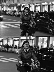 [La Mia Città][Pedala] (Urca) Tags: milano italia 2018 bicicletta pedalare ciclista bike bicycle nikondigitale scéta ritrattostradale portrait dittico biancoenero blackandwhite bn bw 115850
