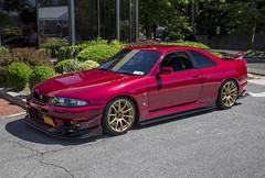 1995 Nissan Skyline GT-R (vetaturfumare - thanks for 3 MILLION views!!!) Tags: nissan skyline jdm r33 1995 vspec superclearred newyork lowered vape gtr
