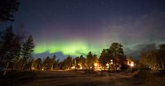 aurora 19.10.2018 (Hotel Korpikartano) Tags: northernlights auroraborealis inarilapland revontulet finnishlapland finland laplandfinland lappi lakemenesjärvi irix