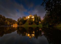 Lost in Time (Croosterpix) Tags: castle lake trakoscan trakošćan croatia hrvatska reflection night clouds longexposure tamron 1530 nikon z7