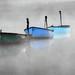 Autumn mist on the boats