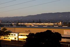 Catching the Last Light (imartin92) Tags: bayarea rapidtransit bart subway rail transit car train oakland california