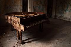 Sound of Silence (WalkForPics) Tags: piano urbex hostel ruins shadows light longexposure