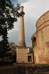 The Minaret (demeeschter) Tags: greece thessaloniki macedonia city town building architecture museum tower archaeology historical heritage roman arch agora sea harbour people art restaurant shop street boat
