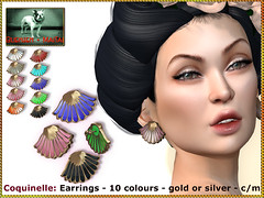 Bliensen - Coquinelle - Earrings (Plurabelle Laszlo of Bliensen + MaiTai) Tags: jewelry necklace earrings retro vintage 1920s 1930s 1940s 1950s artdeco belleepoque