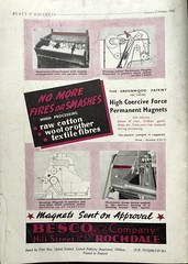 Greenwood patent magnets for textile cleaning; advert issued by Besco, Rochdale, Lancashire - 1948 (mikeyashworth) Tags: rochdale bescoltd besco hillst jamesbaronco plattsprogress advert 1949 mikeashworthcollection