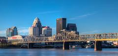 The Louisville Skyline (ap0013) Tags: louisville kentucky louisvillekentucky ky skyline city cityscape downtown bridge river ohioriver architecture