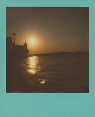 Sunset in Giudecca (sycamoretrees) Tags: 600 analog canal canale color600 color600201701 colorframesedition coloredframe dorsoduro evening film giudecca impossible instantfilm integralfilm italia italy marianrainerharbach polaroid polaroidoriginals slr680 sunset venesia venezia venice