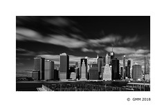 Lower Manhattan (germano manganaro) Tags: ny manhattan lowermanhattan brooklynheights eastriver longexposure skyscrapers oneworldtradecenter onewtc skyline nyc bw nb bn newyork leebigstopper
