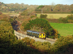 150244 Carnon Viaduct (4) (Marky7890) Tags: gwr 150244 class150 sprinter 2f86 carnonviaduct railway perranwell viaduct cornwall maritimeline train