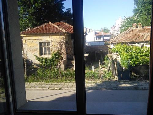 Uitzicht kamer Vidin. Meteen buiten het centrum al heel landelijk