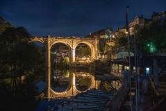 Midnight stroll in Knaresborough under the moonlight (EricMakPhotography) Tags: reflection night longexposure