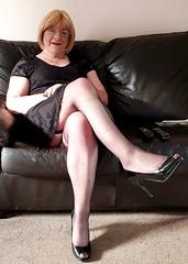 20180806_190415 (Tina Bea) Tags: cd crossdress crossdresser crossdressing enfemme highheels heels skirt tg tgirl tgurl transvestite lingerie mature dress tv office