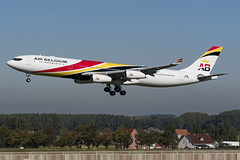 KRF_A340_OOABD_BRU_SEP2018 (Yannick VP - thank you for 1Mio views supporters!!) Tags: civil commercial passenger pax transport aircraft airplane aeroplane jet jetliner airliner ab krf airbelgium airbus a340 340300 ooabd jaf brussels airport bru ebbr belgium be europe eu september 2018 aviation photography planespotting airplanespotting approach landing runway rwy 25l