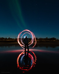 Swirly (Lisa Ouellette) Tags: aurora yellowknife stars reflections canada water night ōffbeat cold pixoom