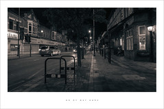 On my way home (Parallax Corporation) Tags: southport eastbankstreet wideangle sonya7rii zeissbatisfe18mmf28 monochrome duotone blackwhite publichouse streetlife streetphotography spotlights