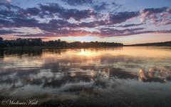 Mirror sunset (kud4ipad) Tags: 2018 dniper hdr prokhorovka ukraine landscape sky sunset water прохоровка reflection cloud