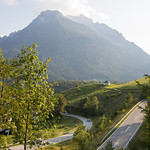 A summer evening view of Bavarian Alps thumbnail