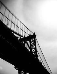 Manhattan Bridge, Manhattan Island Cruise (bobbex) Tags: usa manhattan bigapple newyork iconic manhattanbridge bw blackandwhite blackwhite silhouette