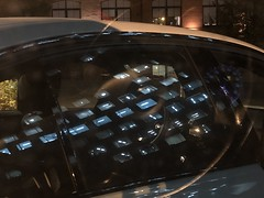 (The Man-Machine) Tags: office evening abstract reflections reflection car steeringwheel