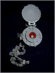Pocket Locket Watch (Karf Oohlu) Tags: lego moc watch locket pocketwatch pocketlocket watchandchain
