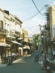 Hania (J_Piks) Tags: 1998 greece ellada kriti crete road street telegraphpoles hania