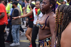 Photo of DSC_8581 Notting Hill Caribbean Carnival London Exotic Colourful Costume Girls Dancing Showgirl Performers Aug 27 2018 Stunning Ladies Décolleté Low Neckline Beautiful Breasts Cleavage
