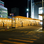 Exterior view of Akita Station West Exit Bus Terminal (秋田駅西口バスターミナル)